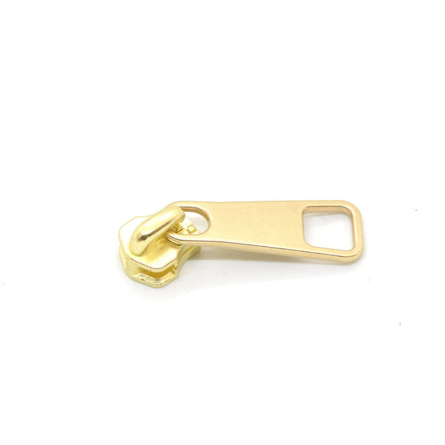 YKK Slider with sturdy puller for metal zipper Gold