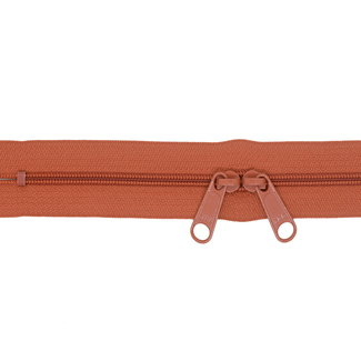 YKK Coil zipper 75cm with double pull (O-type) Rust