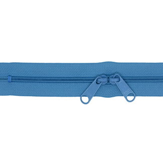 YKK Coil zipper 75cm with double pull (O-type) Denim blue