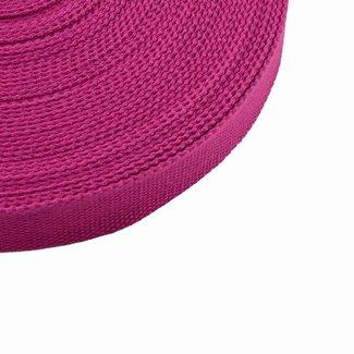 Tassenband Uni Donker Fuchsia