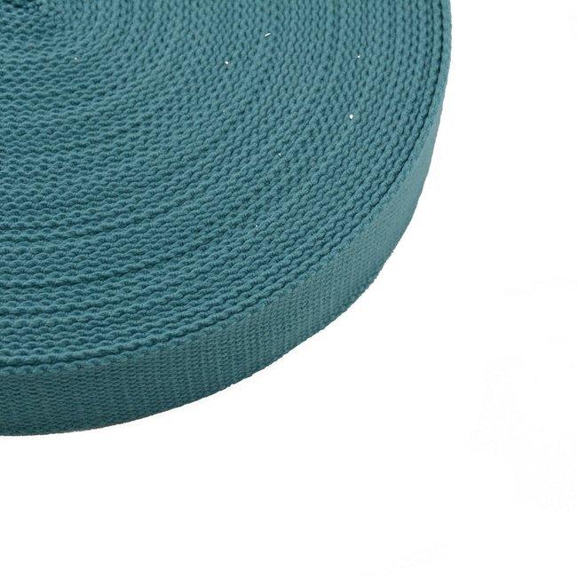 Tassenband Uni Donker Turquoise