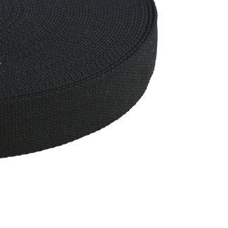 Tassenband Uni Zwart