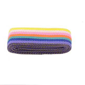 Webbing strap Stripes Rainbow 40mm