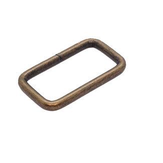 K-Bas Passant Rechthoekig Brons 38mm zwaar