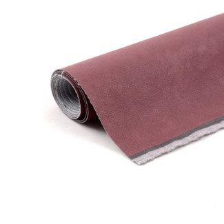 Artificial leather with grain Wine red