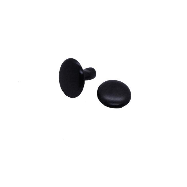 Double cap rivets, Electro Black