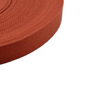 K-Bas Tassenband Uni Terracotta