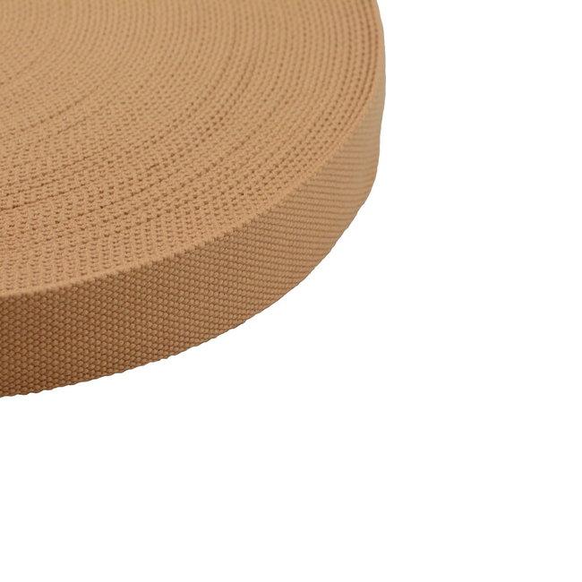 K-Bas Tassenband Uni Camel