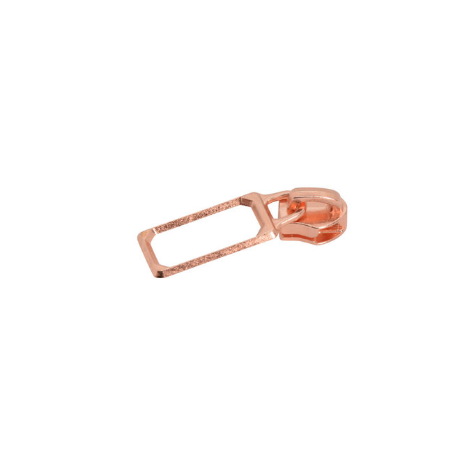 Serial Bagmakers Slider Picture frame for coil zipper Rose gold