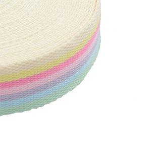 Tassenband Gestreept Pastel 40mm