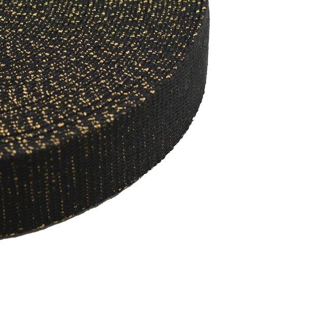 Tassenband Lurex Zwart-Goud 30mm