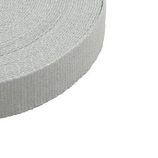 Webbing Lurex Light grey-Silver 30mm