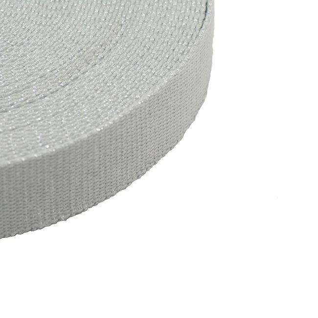 Tassenband Lurex Grijs-Zilver 30mm