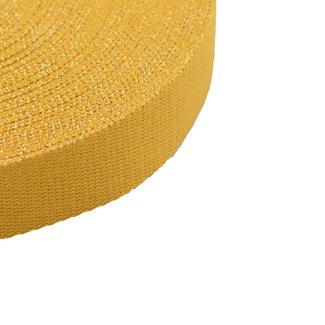 Tassenband Lurex Warmgeel-Goud 30mm