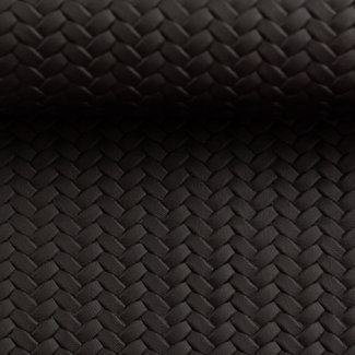Faux leather with imprinted braided pattern