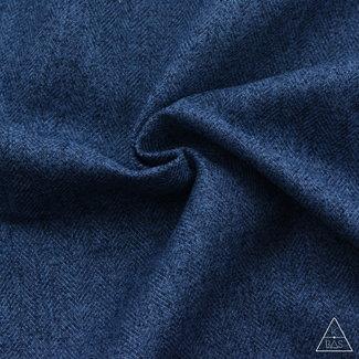 K-Bas Brushed canvas Vissengraat Jeansblauw