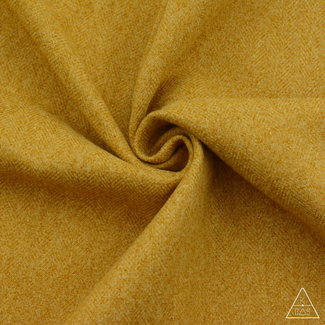K-Bas Brushed canvas Herringbone Warm yellow