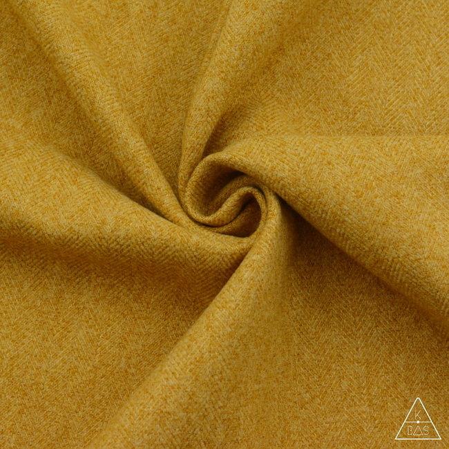 Zipper zoo Brushed canvas Herringbone Warm yellow
