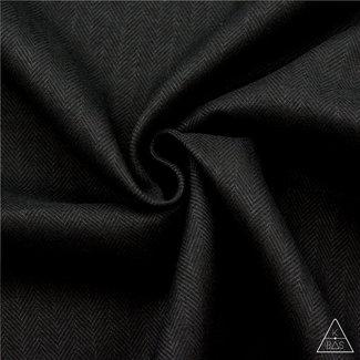 K-Bas Brushed canvas Vissengraat Zwart