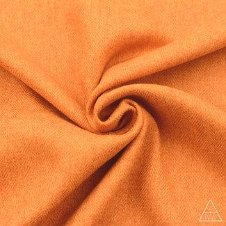 Zipper zoo Brushed canvas Vissengraat Helder Oranje