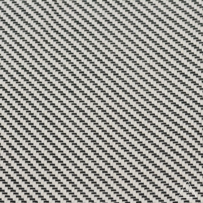 Outdoor Jacquard, Striped Ivory-black