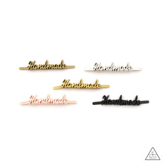 Metal Script Label 'Handmade'