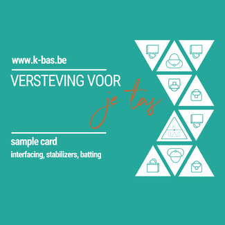 K-Bas Sample card - tassenversteviging