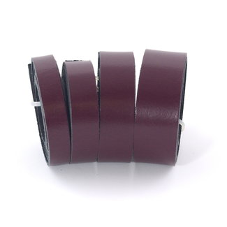 Zipper zoo Leather strap Wine red