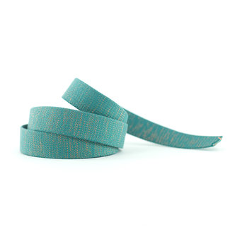 See You At Six Webbing Lurex Slate Blue Green 30mm