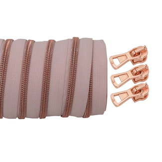 SO Coil zipper Blush - Rose gold 100cm