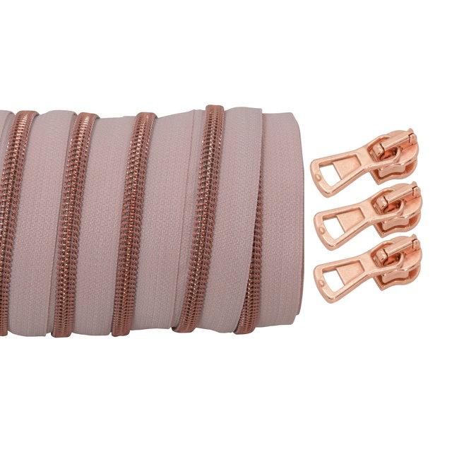 SO Spiraalrits Blush - Rosé goud 100cm