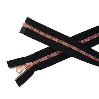 SO Separating coil zipper Black- Rose gold