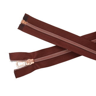 SO Separating coil zipper Red brown - Rose gold