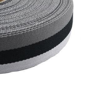 Tassenband Tricoloré Zwart 40mm