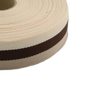 Tassenband Tricoloré Bruin 40mm