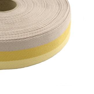 Tassenband Tricoloré Geel 40mm