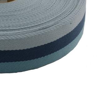 Tassenband Tricoloré Blauw 40mm