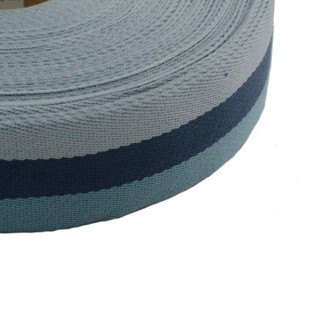Webbing Tricolore Blue 40mm
