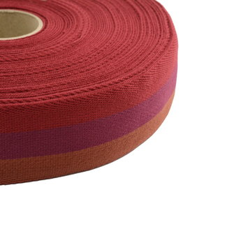 Webbing Tricolore Red 40mm