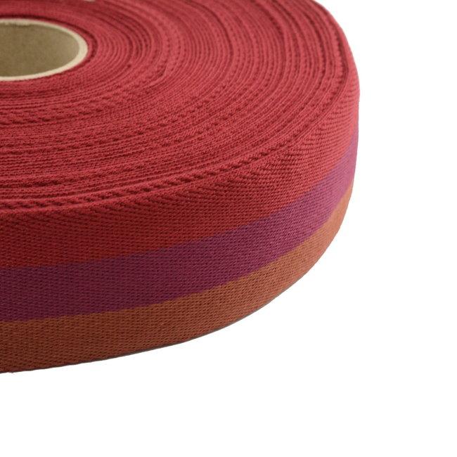 Tassenband Tricoloré Rood 40mm