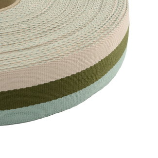 Tassenband Tricoloré Groen 40mm
