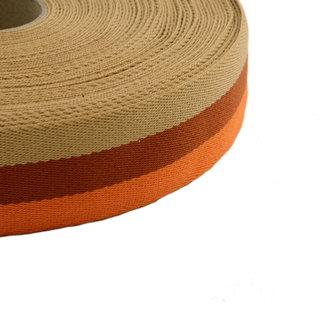 Webbing Tricolore Orange 40mm