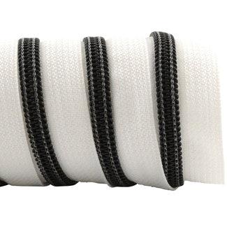K-Bas Zipper tape Coil White - Black