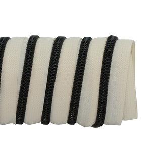 K-Bas Zipper tape Coil Off white - Black