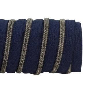 K-Bas Zipper tape Coil Dark blue - Black nickel