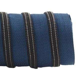 K-Bas Zipper tape Coil Stormy blue - Black