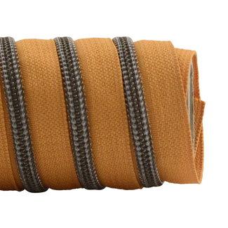 K-Bas Zipper tape Coil Burned Orange - Black nickel
