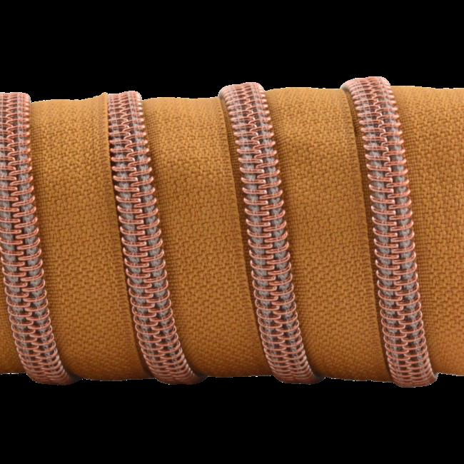 K-Bas Zipper tape Coil Burned Orange - Rose gold