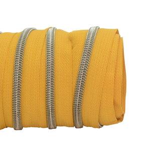 SO Zipper tape Coil Ochre - Shiny anti-brass