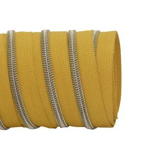 SO Zipper tape Coil Mustard - Shiny anti-brass